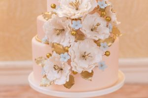 Gold and Blush Cake