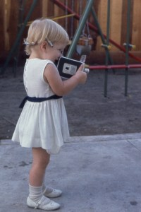 Debbie at age 3 on a photo shoot!