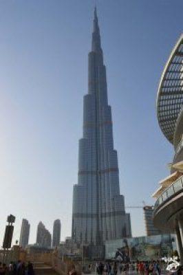 El edificio más alto del mundo. El Burj Khalifa de Dubai.