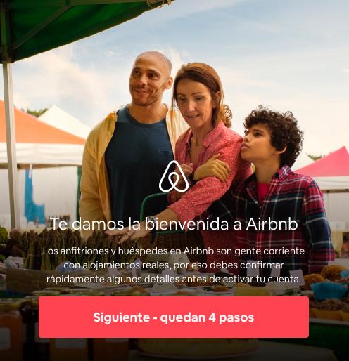 Bienvenido a airbnb, alojamiento con descuento.