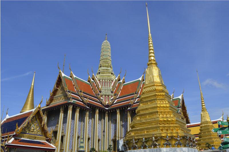 Templo del Buda Esmeralda de Bangkok, Tailandia.
