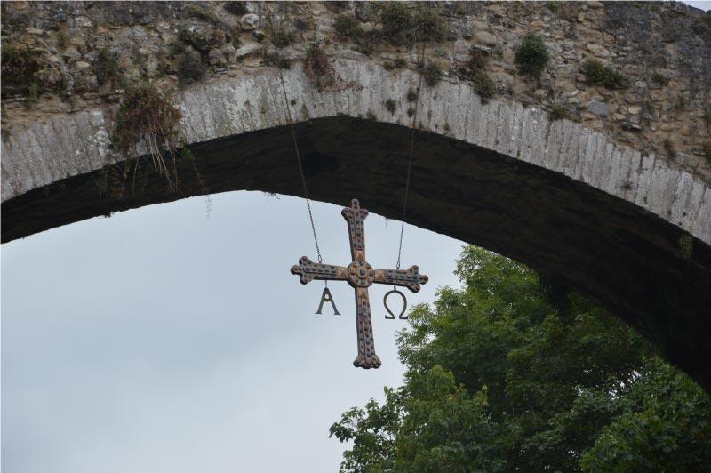 Cruz de la victoria del puente romano de Cangas de Onís.