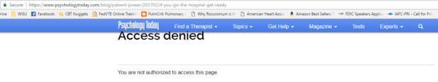 Access denied to the article that was posted six days ago.