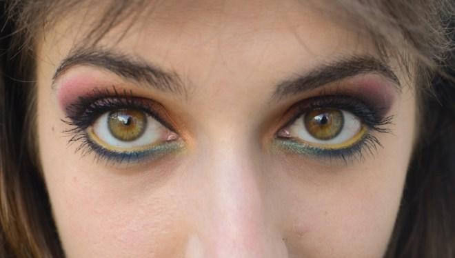 Rainbow eye makeup tutorial - step 12