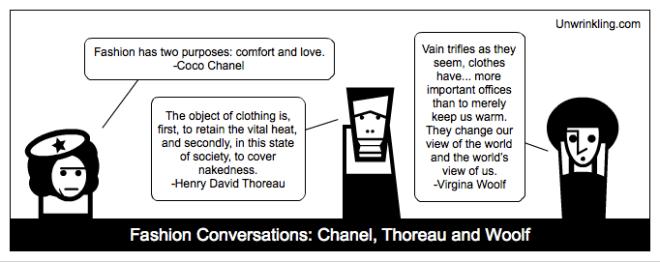 thoreau on fashion - coco Chanel and virginia Woolf