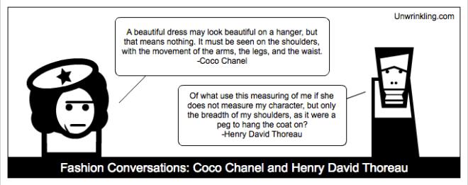 thoreau on fashion - coco chanel