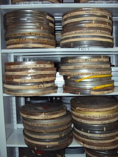 The films that came from the abandoned lab were housed in rusty old metal cans that were not suitable for long-term storage.