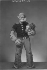 WPA Federal Theatre Circus. Jack Riano (Popeye) member of clown alley. 69-TC-NYC-19-917-53.