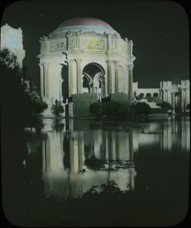 Photograph of the Palace of Fine Arts Building at the Panama-Pacific International Exposition, 1915. Local ID: 16-SFX-46.