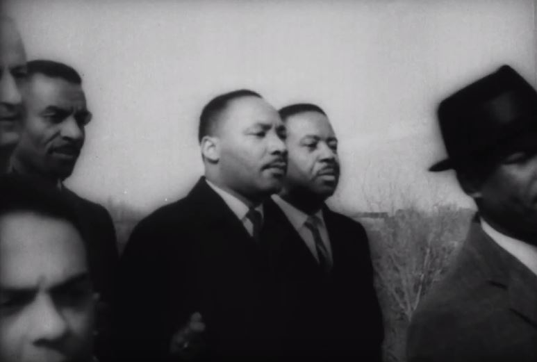 Dr. King marching on March 9, 1965.