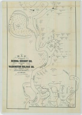 Map of Portions of Desha and Chicot Counties, Arkansas, and Washington and Bolivar Counties, Mississippi, Skipwith District. Part 1. NAID 26465539. https://catalog.archives.gov/id/26465539