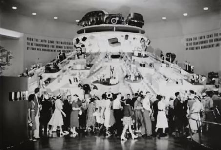 """The 152 ton turntable that showed the """"forward cycle of production."""""""