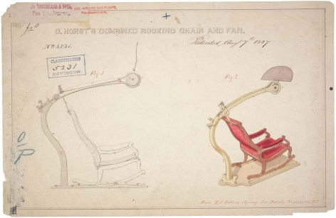 C. Horst's Combined Rocking Chair and Fan https://catalog.archives.gov/id/594932