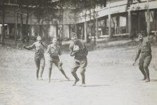 One-armed baseball team, Walter Reed Hospital. 165-WW-255A-88