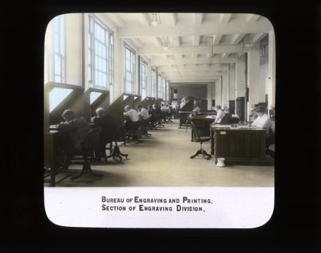 Bureau of Engraving and Printing. Section of Engraving Division. RG 56-AE-15.