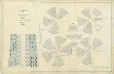 RG26: Lighthouse Plans; MI, Spectacle Reef; #13. Details of Stonework, 1871. NAID: 100298234. https://catalog.archives.gov/id/100298234