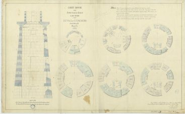 RG26: Lighthouse Plans; MI, Spectacle Reef; #14. Details of Stonework, 1871. NAID: 100298236. https://catalog.archives.gov/id/100298236