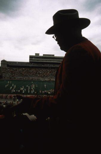 Spring football game at the University of Nebraska. May 1973. Local ID: 412-DA-4827