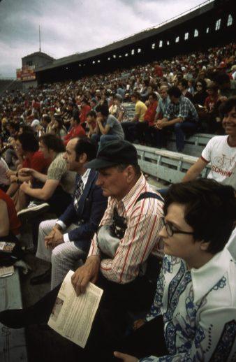 Spring football game at the University of Nebraska, May 1973. Local ID: 412-DA-4947.