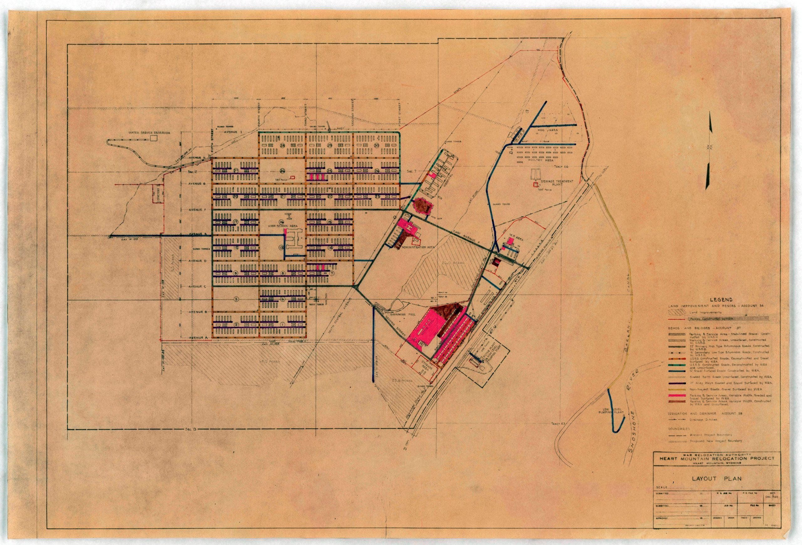 Wyoming- Heart Mountain- Layout Plan