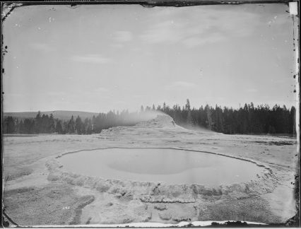 Crater of the Castle Geyser, Yellowstone, Wyoming. 57-HS-109