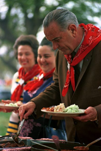 """(Local Identifier: C4886-9) """"President Johnson at a Barbecue for the Latin American Ambassadors"""" - Lyndon Baines Johnson Library"""