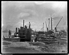 Norfolk Naval Shipyard, Quay Wall North Timber Basin. July 11, 1901. Local Identifier: 181-V-167