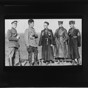 Local Identifier: FLAX-GZ-18- Colonel Stanislav Bulak-Balakhovich (center) and his commanders.