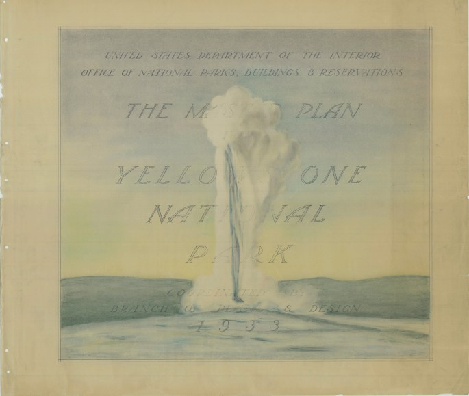 Cover sheet showing Old Faithful at Yellowstone National park