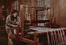 Setting up the loom. (Still from Homespun)