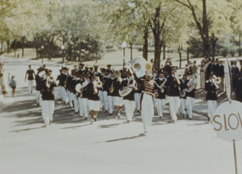The Tuskegee Institute marching band.