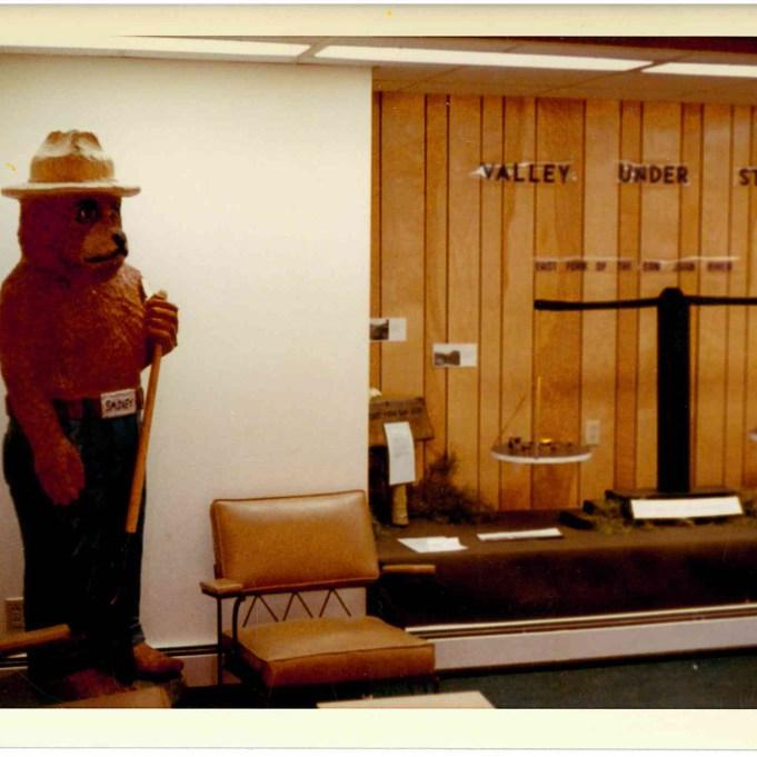 Smokey the Bear Statue, Pagosa-Piedra Ranger Office, San Juan National Forest.