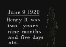 An intertitle from Henry Ford's home movies. (Still from FC-FC-4678)