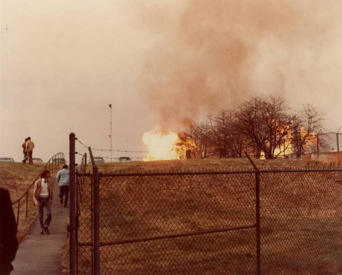 RG 64, P 61 - Explosion from Fire at Suitland, photo K-24