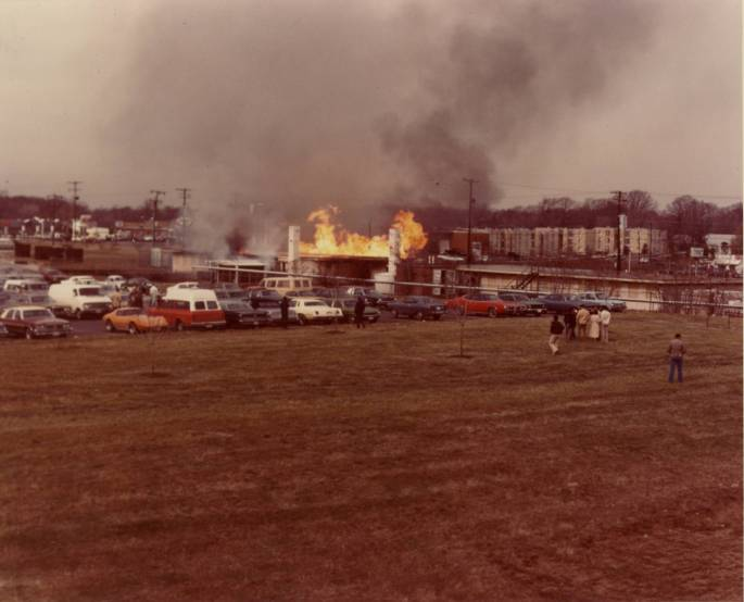 RG 64, P 61 - General View of Fire, photo K-25
