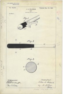 RG-241 Patent 716,541: Patent Drawing for J. A. Hillerich's Bat