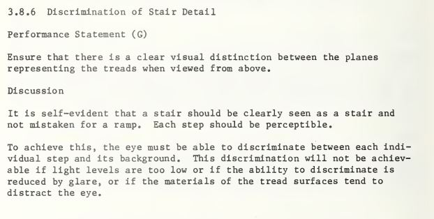 """Image from page 28 of """"An Analysis of the Behavior of Stair Users"""", a report of the Consumer Product Safety Commission's Directorate for Engineering and Science."""