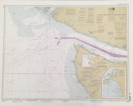 Nautical Chart map number 18480 including most of the Olympic Coast National Marine Sanctuary