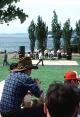 The Navy Country Band performs at a picnic and chili cook-off during the Seattle Sea Fair 1982. Local Identifier: 330-CFD-DN-ST-83-01283 (https://catalog.archives.gov/id/6371853)
