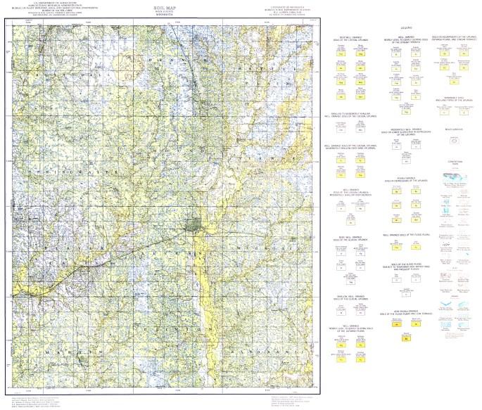 Soil Map of Rock County, Minnesota