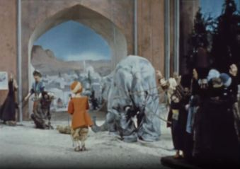 The villagers use their combined efforts to capture the elephant and return it to the emperor's palace.
