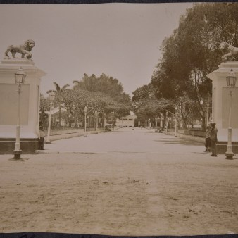 """Original Caption: """"Plaza opposite Cathedral."""" 94-SAW-21 (NAID: 158095350)"""