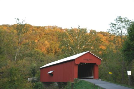 Busching Covered Bridge in Early Autumn