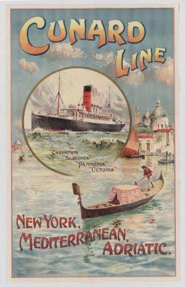 Cunard Line, New York, Mediterranean, Adriatic - Local Photo ID: 85-P-1 and NAID 8065782