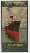 Trieste to New York, Austro-Americana & Fratelli Cosulich - Local Photo ID: 85-P-17 and NAID 102278406