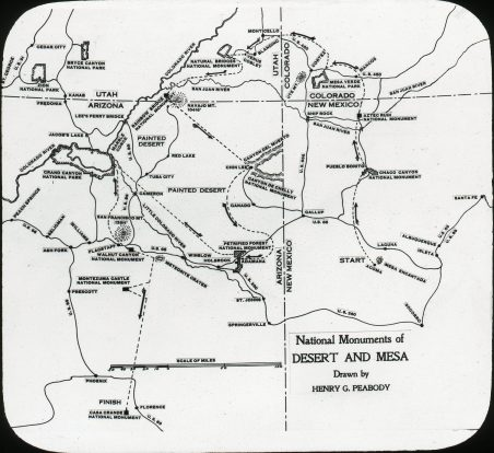 Map of National Monuments of Desert and Mesa