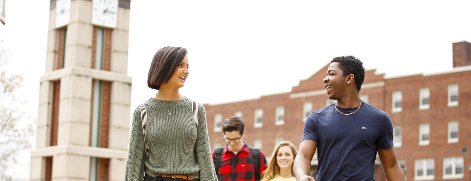 Students on Roberts Wesleyan campus