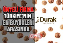 Ünyeli Firma, Türkiye'nin En Büyükleri Arasında…