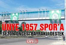 Ünye 1957 Spor'a Bayraklı Destek!