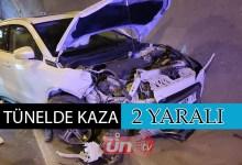 Yunus Emre Tüneli'nde Kaza: 2 Yaralı!